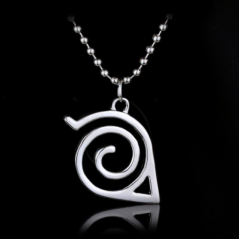 Aliexpress Buy Japan Hot Anime Naruto Necklaceleaf Symbol