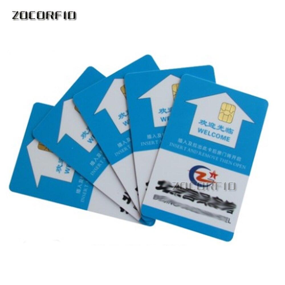 500 pcs/lot Fudan puce SLE4442 Contact carte à puce avec impression personnalisée