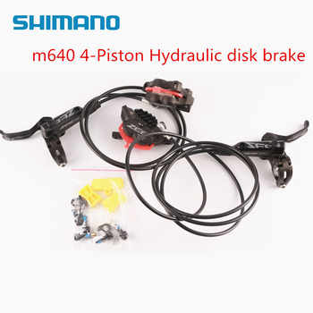 SHIMANO ZEE M640 4 Piston Metal Cooling Fins Hydraulic Disc Brake MTB Mountain Bike Front & Rear Lever and Caliper Bicycle parts - DISCOUNT ITEM  36% OFF All Category