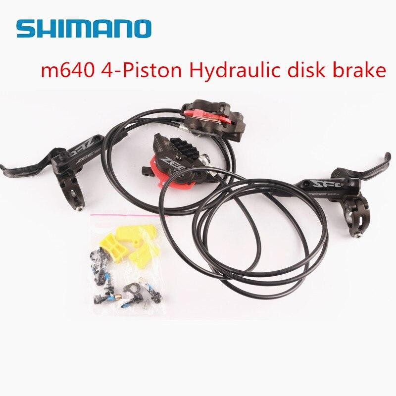 SHIMANO ZEE M640 4 pistons ailettes de refroidissement en métal frein à disque hydraulique vtt VTT levier avant et arrière et étrier pièces de vélo