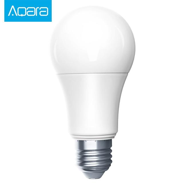 New Xiaomi Aqara Zigbee Smart White Color LED Bulb 9W E27 2700K-6500K 806lum smart Light Work with MI Home App