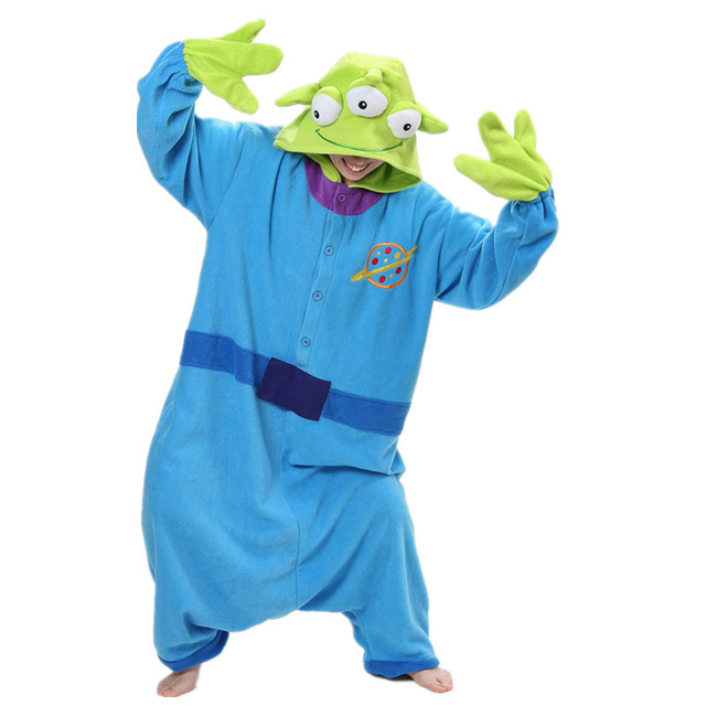 Squeeze Toy Story Aliens Little Green Men Onesies Pajamas