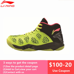 Li-Ning Newest Men's Badminton Shoes Breathable Lining Athletic Sneaker Anti-Slippery Sports Shoe LiNing Genuine AYAM011 L740OLC