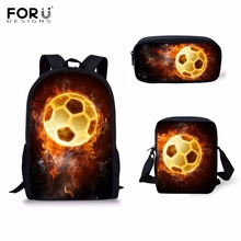 FORUDESIGNS Fashion Primary Students School Bags Cool 3D Fir