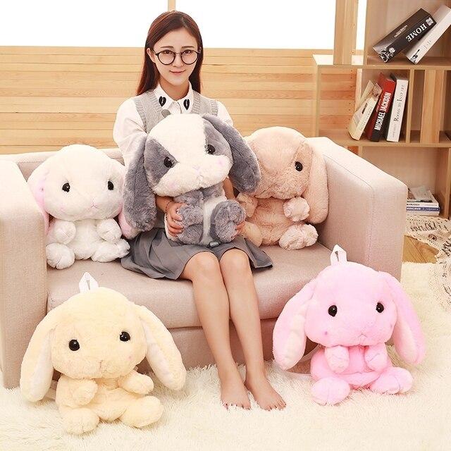 Japonês LOLITA coelho orelha longa coelho de pelúcia saco boneca esquilo Hamster brinquedos de pelúcia crianças Mochila