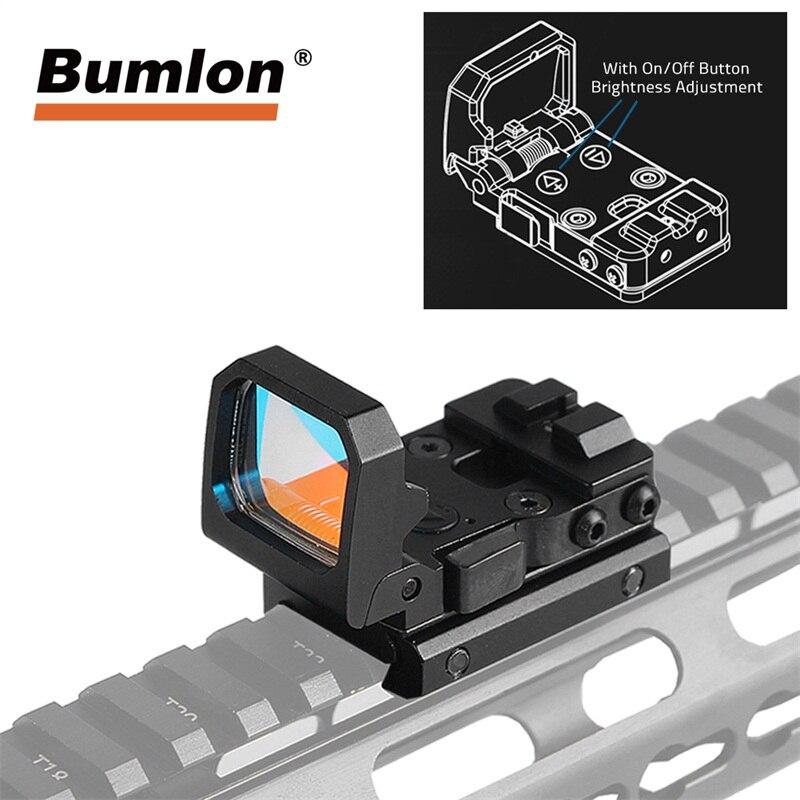 Tactical Punto Rosso Olografico Reflex Sight 3 MOA Dot Glock Scpoe w/9 Livelli di Luminosità Monti Caccia Scopes RL5-0047BK