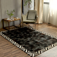 2019 New European style luxury geometric carpets living room bedroom tea table big rugs Modern simplicity custom cowhide carpet