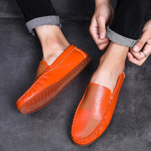 2019 Fashion Loafer Men Loafers Popular Leather Flats Casual Shoes Walking Soft Summer Lazy Comfortable Driving