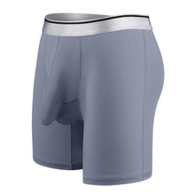 Calzoncillos bóxer de seda para hombre, ropa interior de secado rápido, supergrande, talla 7XL, color blanco, 1125