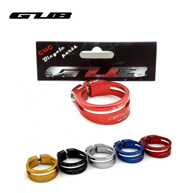 Gold Colors Available = Red Blue Silver GUB MTB Road Seat Post Clamp 31.8mm
