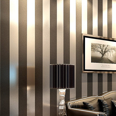 Non Woven Black White Silver Gold Glitter Striped Wallpaper Roll Papel De Parede For Livingroom Bedroom Backgound Wall Decor In Wallpapers From Home