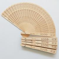 100pcs China Japanese Folding Fan Original Wooden Hand Flower Bamboo Pocket Fan Home Decoration Festival