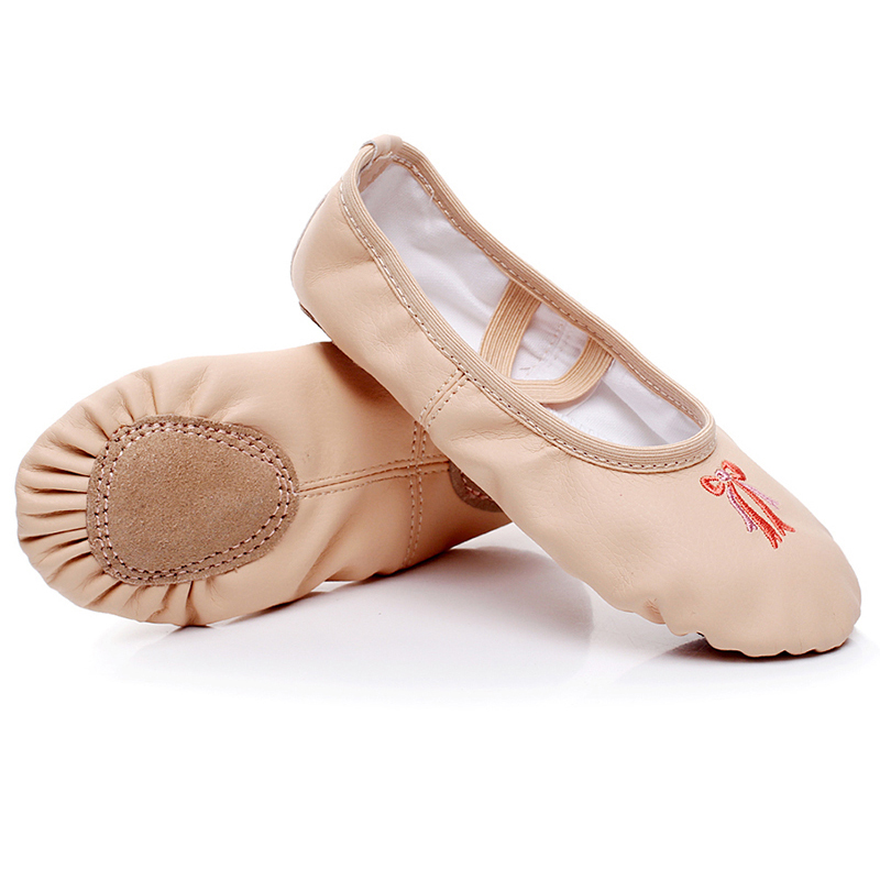 Children Dance Shoes PU Embroidered Soft Bottom Ballet Shoes For Adult Girls  National Dance Belly Dance Yoga Cat s Claw Shoes 06-in Dance shoes from  Sports ... 03a86d12e8bf