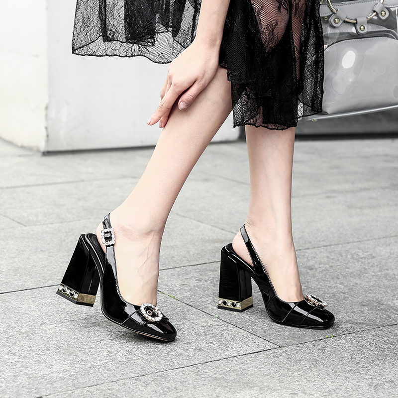 De Otoño Tacón Imitación black Tacon White Alto Cuero Diamantes Estilo Nuevo Primavera Perfetto red Mujer Zapatos Prova Bombas Zapatos w8qEfXX