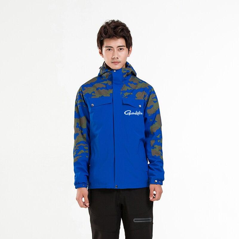Gamakatsu veste de pêche hommes coupe-vent imperméable hiver randonnée femmes vêtements de pêche manteau deux pièces ensemble chaud vêtements de pêche