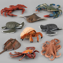 Ocean Marine World Animal Sea Life Simulation Figure Octopus Sea Turtle Crab Fish Collection Model Doll For Children Gift Toys(China)