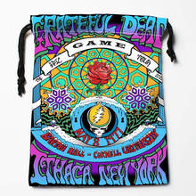 New Arrive Grateful Dead Drawstring Bags Custom Storage Bags Printed gift bags More Size 27x35cm DIY your picture