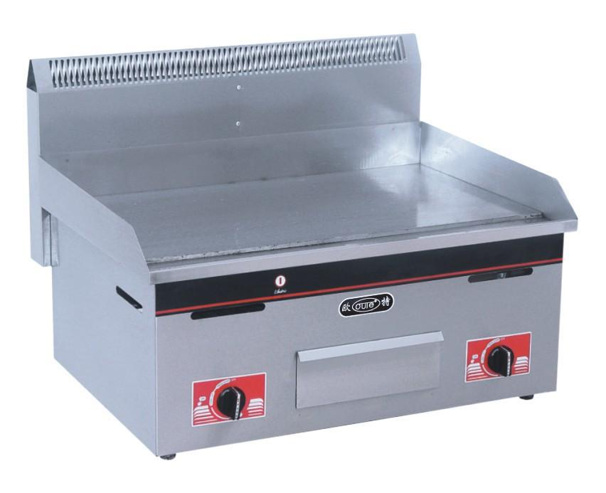 Gas flat frying cooking panel griddle stainless steel food frying tool catering equipment LPG gas