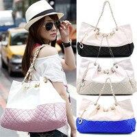 2017 High Quality Brand Fashion Women Leather Handbags Women S Chains String Shoulder Messenger Bags 5