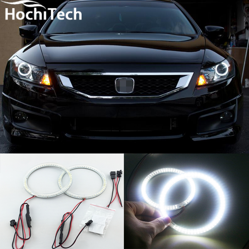 Excellent SMD 5050 LED white headlight halo angel demon eyes kit for Honda Accord coupe 2008 2009 2010 2011 аксессуар rexant 2rca 2rca 3m 17 0105