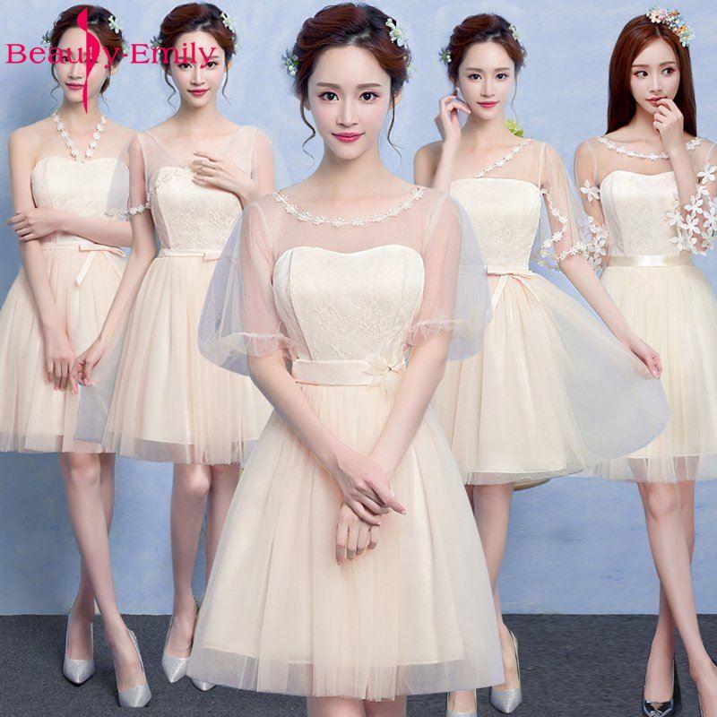 2019 New Bridesmaid Dresses Cheap Graduation Homecoming Gowns Vestido De Festa Short Party Dress