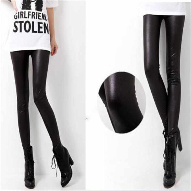 Vrouwen Sexy Broek Broek Slim Shiny Fitness Kunstleer Legging Voor Meisjes