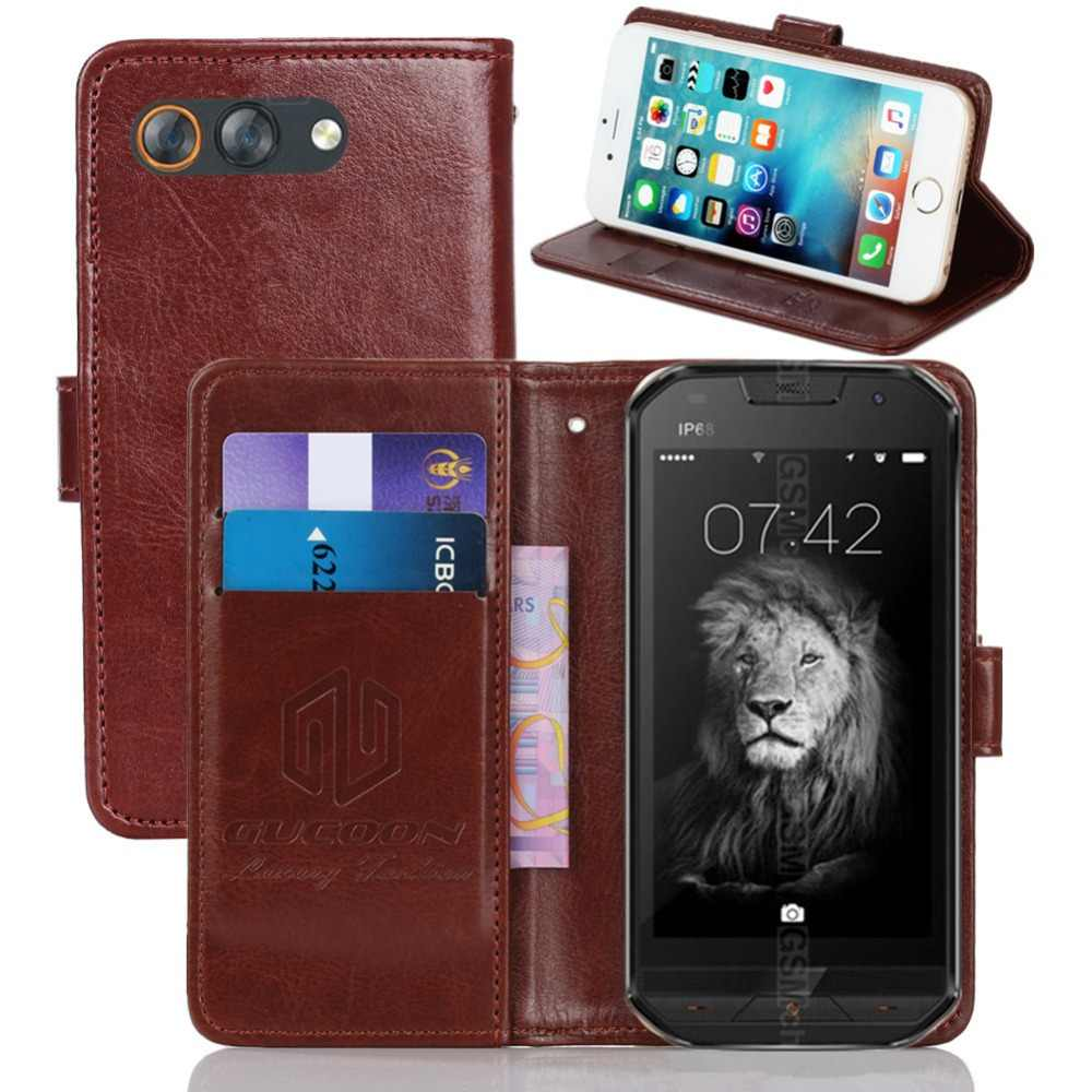 GUCOON Vintage Wallet Case for Doogee S30 5.0inch PU Leather Retro Flip Cover Magnetic Fashion Cases