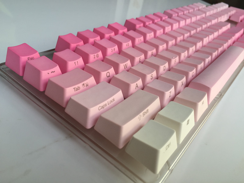 Side Print 104 key ANSI layout Valentine powder Thick PBT Keycap For OEM Cherry MX Switches Mechanical Gaming Keyboard кулон на цепочке птицы