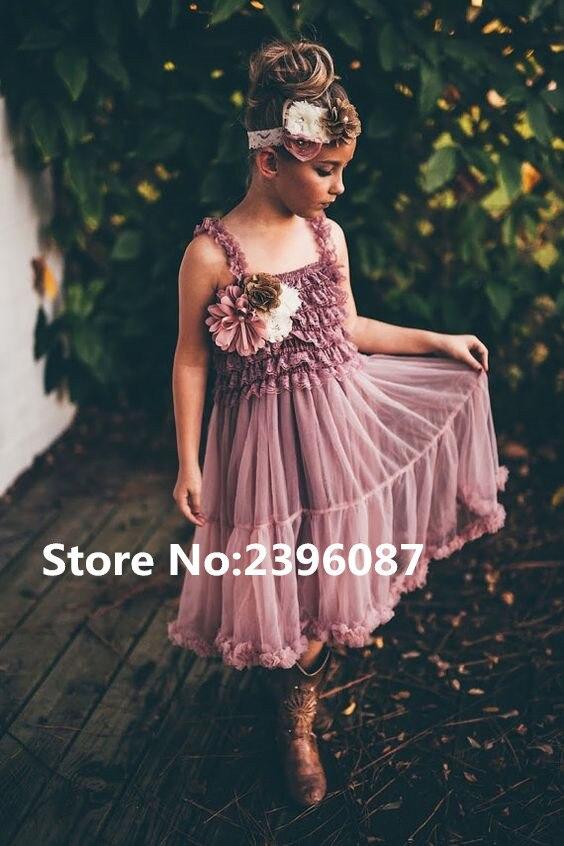 Hot Elegant Straight Neckline Lace Little   Girls   Beach   Flower     Girl     Dress   Sleeveless   Flower     Girl     Dresses   Vestidos de comunion 2019