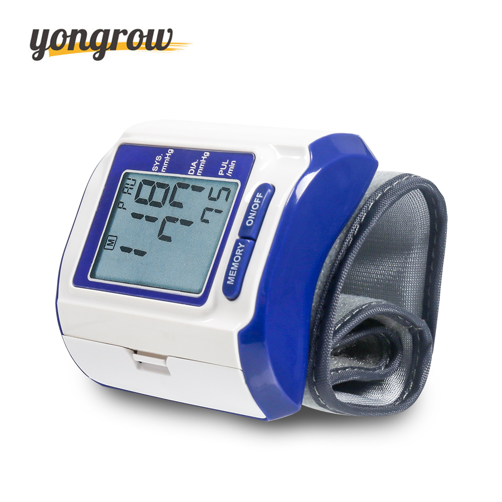 Yongrow Wrist Blood Pressure Monitor Blood Pressure Gauge Tonometer  bp Monitor Blood Pressure Monitor Sphygmomanometer blood pressure monitor automatic digital manometer tonometer on the wrist cuff arm meter gauge measure portable bracelet device