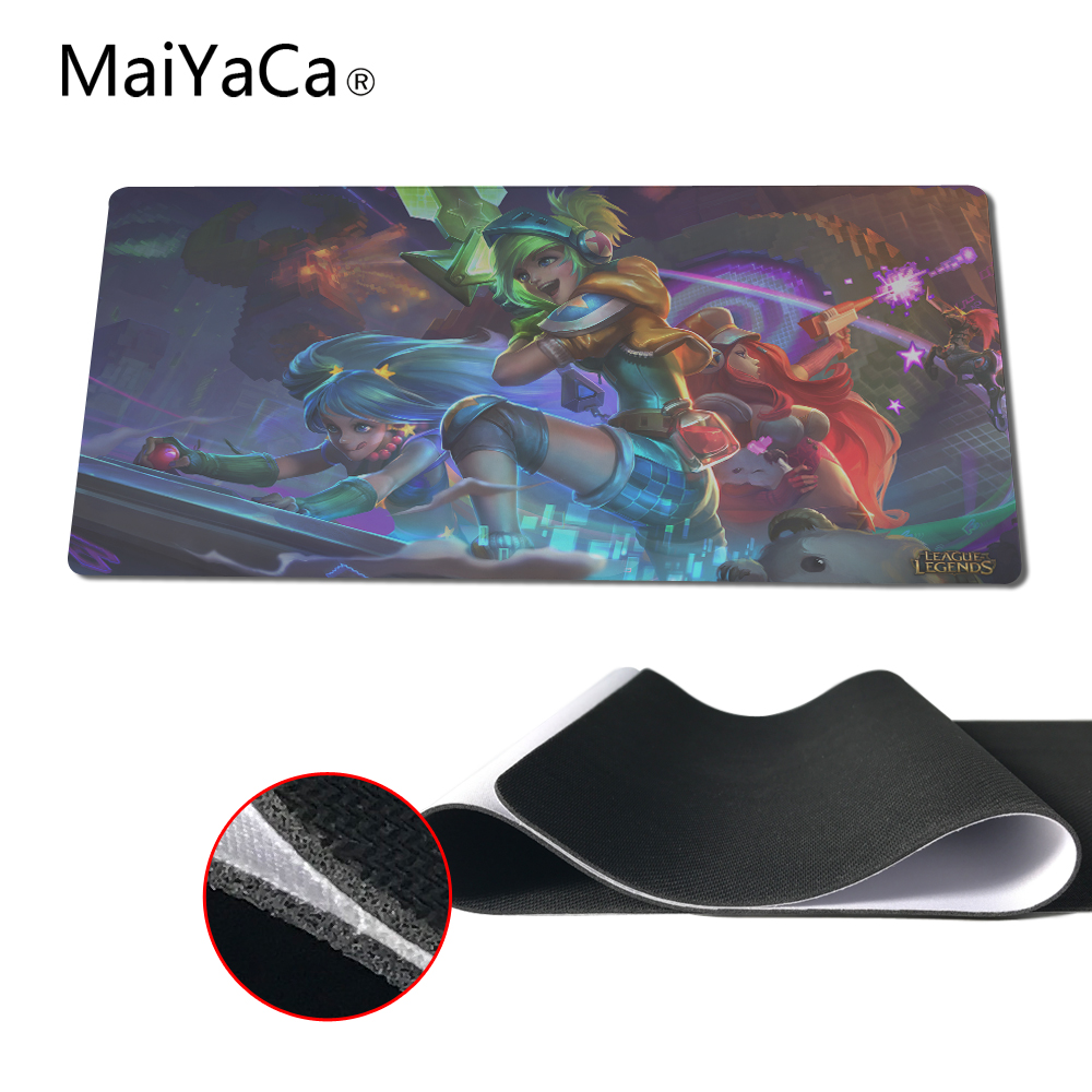 MaiYaCa New Design Video Games League Of Legends Game Mat Desktop Keyboard Pad Lol 400X900mm Gaming Mouse Pad