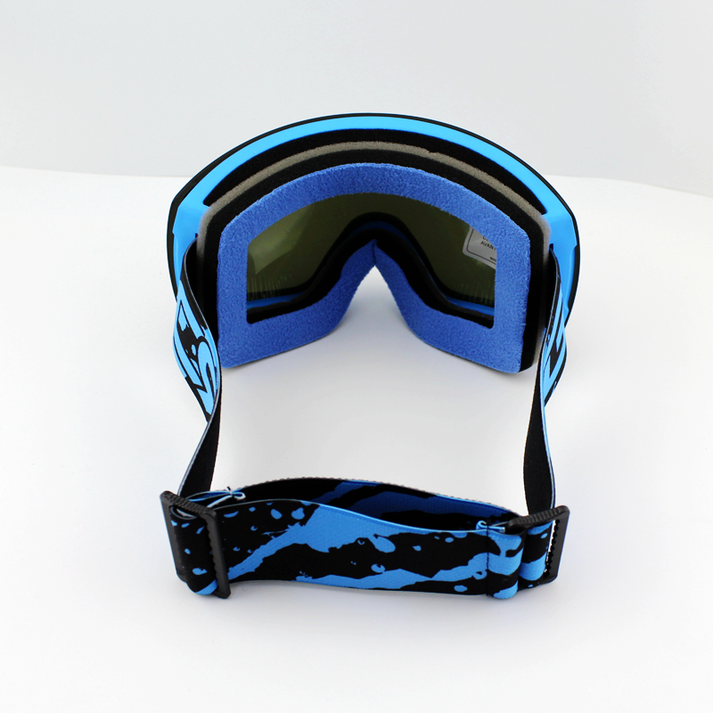 Lila Linse Blau Rahmen Marke Skibrille Doppel UV400 Anti-Fog Große - Sportbekleidung und Accessoires - Foto 5
