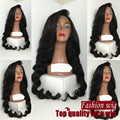 Long Body Wave Wig Synthetic Lace Front Wig Wave Wigs For Black Women Lace Front Wig Synthetic Perruque Synthetic Women Pelucas