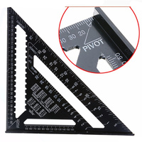 12 Inch Black Tri-square Ruler Aluminium Roofing Rafter Angle Frame for Measuring Carpenter Tools
