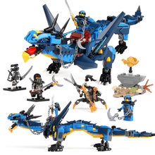 Children Toys Diy Assembled Building Blocks Bricks Lightning Wild Dragon Model Educational Compatible Legoing Kids Gifts New I37 lis 1173pcs ninja new 10584 dragon s forge diy model building kit blocks gifts toys compatible with lepin