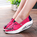 Slimming Graffiti Women Canvas Shoes Fashion Casual Shoes Women Fitness Lady Swing Shoes Summer Factory Whose Top Quality Goose