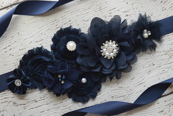 Adornment Flowers, Belts,  Photography, Pregnant Women, Flowers, Children, Waist, Ornaments, Elegant Blue Bel