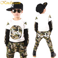 Kindstraum Boys Clothing Sets for Kids Cotton Chikdren Long Sleeve 2017 Spring Camouflage Suits Casual Sport T Shirt+Pant, MC378