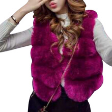 Faux Fur Coat Women 2017 New Fashion Faux Fur Vest Women 2 Colors Winter Coat Women Streetwear Women Fur Vests Casual Coats