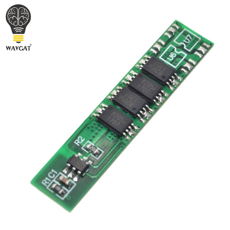 WAVGAT <font><b>1S</b></font> 10A 3.7V li-ion BMS PCM <font><b>battery</b></font> <font><b>protection</b></font> <font><b>board</b></font> pcm for 18650 lithium ion li <font><b>battery</b></font>. image