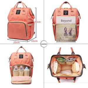 Image 3 - Livraison directe sacs à couches femmes grande capacité Nappy sacs bébé soins voyage sacs à dos concepteur sac dallaitement pour papa et maman SD 067