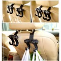 High Quality Car Vehicle Auto Accessories Universal Holder Hook Hanger Car Seat Back Double Pothook (0.1-6kg Weight) 2PCS