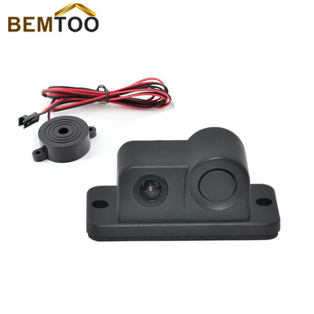 BEMTOO 2 in 1 LED Sound Alarm Car Sensor Radar System with CCD Rear View Parking Camera car accessories