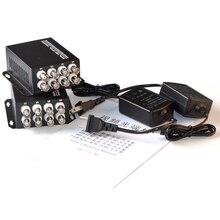 2 шт./лот 1 пара 8 каналов видео аудио данных волоконно-оптический медиа конвертер передатчик и приемник FC порт