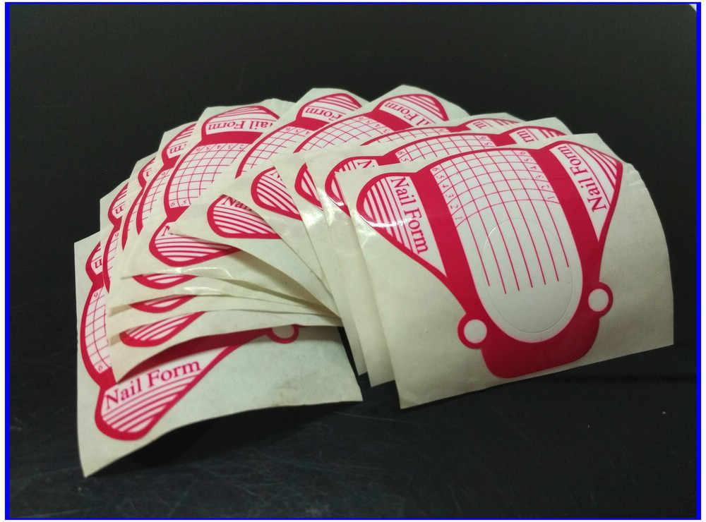 10 pcs Pink Kupu-kupu U Bentuk Ekstensi Nail Bentuk Roll Art Tip Ekstensi Formulir untuk Acrylic UV Gel