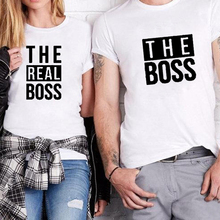 Matching Couple Shirts His And Her T-Shirt Casual Funny Wedding T The Boss Real Shirt Anniversary Gift