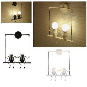 Image 5 - Schlafzimmer Lampe Kreative Moderne LED Wand Lampe Kreative Montiert Eisen Leuchte Paare Wand Lichter Schlafzimmer Korridor Wand Licht Keine Lampe