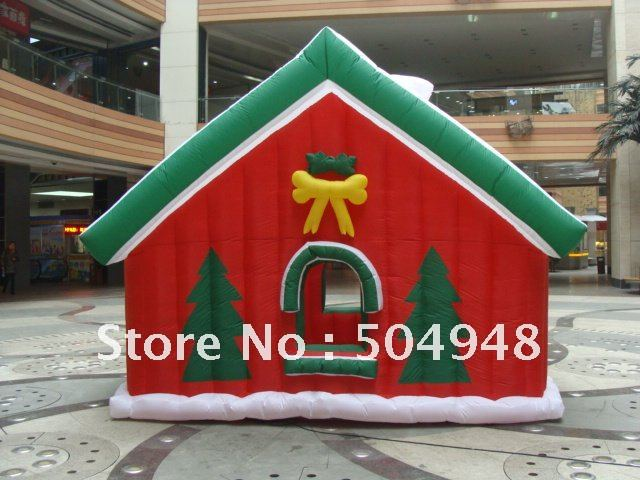 Hot Sale Inflatable House for Christmas Decoration ao058m 2m hot selling inflatable advertising helium balloon ball pvc helium balioon inflatable sphere sky balloon for sale