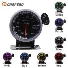 "CNSPEED 7 Colori LED 2.5 ""60 millimetri 12V Universale Racing Car Water Temp Temperatura Calibro Sensore per Honda auto Gauge Meter Pod"