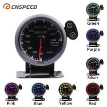 """CNSPEED 7 Kleuren LED 2.5 """"60mm 12V Universal Racing Car Water Temp Temperatuurmeter Sensor voor Honda auto Gauge Meter Pod"""